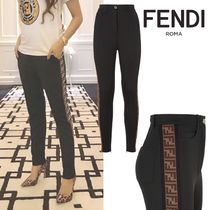 FENDI Casual Style Street Style Long Skinny Pants