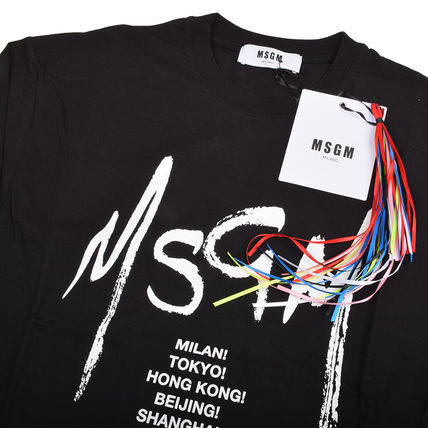 MSGM Long Sleeve Crew Neck Pullovers Street Style Long Sleeves Cotton 3