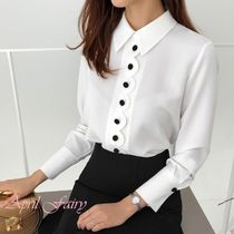 Long Sleeves Office Style Shirts & Blouses