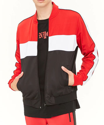 Street Style Bi-color Track Jackets