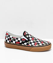 VANS SLIP ON Other Check Patterns Plain Toe Rubber Sole Casual Style