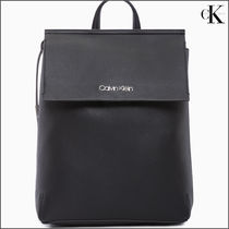Calvin Klein Unisex Faux Fur Street Style Backpacks