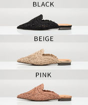 Casual Style Plain Slippers Pointed Toe Shoes