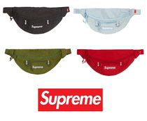 Supreme Unisex Nylon Street Style Plain Hip Packs