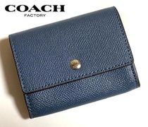 Coach Plain Leather Coin Cases