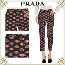 PRADA Printed Pants Casual Style Cotton Home Party Ideas Pants