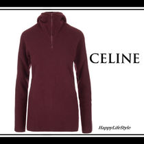 CELINE Casual Style Wool Long Sleeves Plain Medium Bold Sweaters