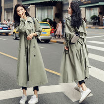 Stand Collar Coats Plain Long Elegant Style Khaki
