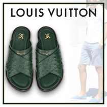Louis Vuitton Blended Fabrics Street Style Sandals