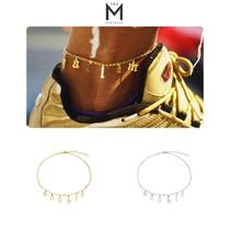 THE M JEWELERS Casual Style Unisex Street Style Silver Anklets