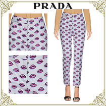 PRADA Casual Style Cotton Home Party Ideas Pants