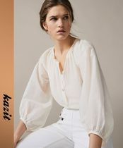 Massimo Dutti Casual Style Puffed Sleeves Shirts & Blouses