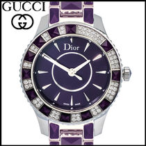 Christian Dior Round Quartz Watches Stainless Elegant Style Analog Watches