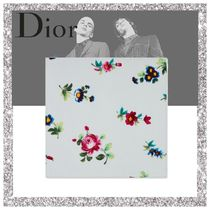 Christian Dior Flower Patterns Silk Handkerchief