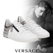 VERSACE Street Style Leather Sneakers