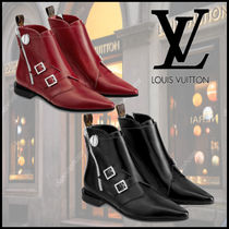 Louis Vuitton Monogram Leather Ankle & Booties Boots