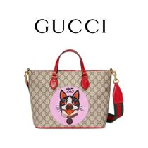 GUCCI Canvas Other Animal Patterns Totes