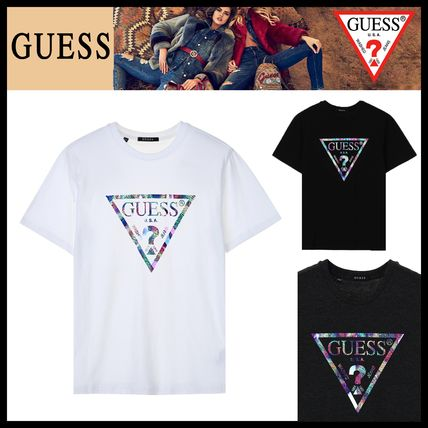 Guess More T-Shirts Unisex Street Style Short Sleeves T-Shirts
