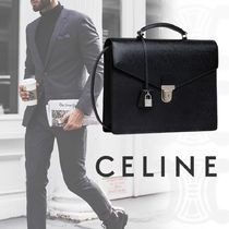 CELINE Unisex Calfskin 2WAY Plain Business & Briefcases
