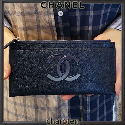 CHANEL More Wallets & Small Goods Unisex Bi-color Plain Leather Wallets & Small Goods 2