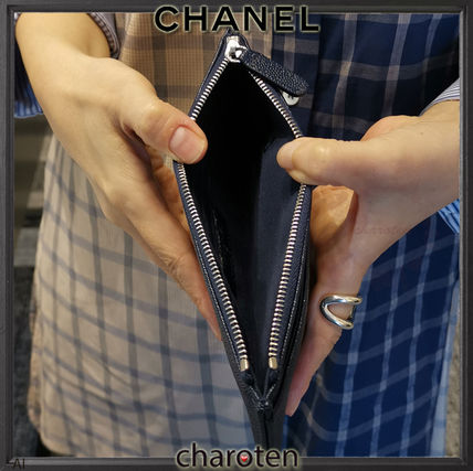 CHANEL More Wallets & Small Goods Unisex Bi-color Plain Leather Wallets & Small Goods 3