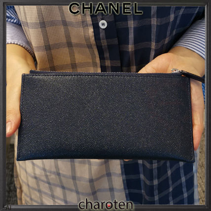 CHANEL More Wallets & Small Goods Unisex Bi-color Plain Leather Wallets & Small Goods 4