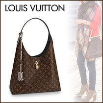 Louis Vuitton MONOGRAM Monogram Blended Fabrics A4 2WAY Leather Python