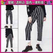 DOLLS KILL Stripes Casual Style Cropped & Capris Pants