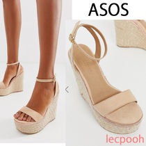 ASOS Open Toe Casual Style Plain Platform & Wedge Sandals