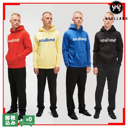 Pullovers Unisex Sweat Street Style Long Sleeves Plain Logo