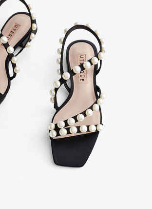 Open Toe With Jewels Elegant Style Sandals