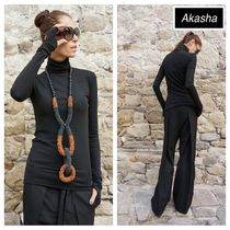 Aakasha Plain Medium Handmade Super-long Sleeves Turtlenecks