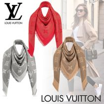 Louis Vuitton Monogram Cashmere Fringes Elegant Style Accessories