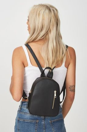 Flower Patterns Casual Style Plain Backpacks
