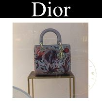 Christian Dior LADY DIOR Street Style 2WAY Other Animal Patterns Leather Handmade