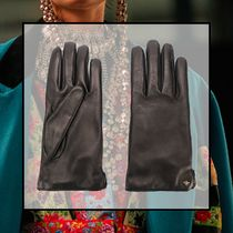 GUCCI Street Style Plain Leather Leather & Faux Leather Gloves