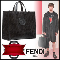 FENDI Monogram A4 Leather Totes