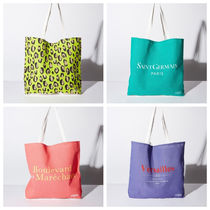 Cotton on Leopard Patterns Totes