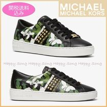Michael Kors Camouflage Platform Round Toe Lace-up Casual Style Studded