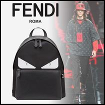 FENDI BAG BUGS Unisex Nylon A4 Other Animal Patterns Backpacks