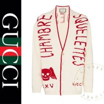 GUCCI Wool Street Style Oversized Cardigans