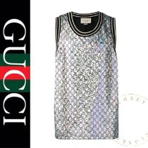 GUCCI Monogram Street Style Oversized Tanks