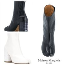 Maison Martin Margiela Plain Leather Elegant Style High Heel Boots