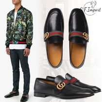 GUCCI Street Style Bi-color U Tips Oxfords