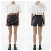 3.1 Phillip Lim Plain Leather Leather & Faux Leather Shorts