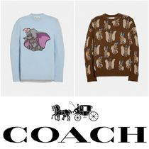 Coach Casual Style Cashmere Collaboration Long Sleeves Cashmere