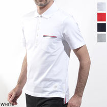 THOM BROWNE Cotton Short Sleeves Polos