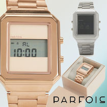 PARFOIS Casual Style Square Stainless Digital Watches