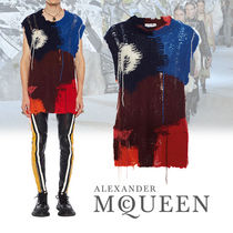alexander mcqueen Wool Sleeveless Low Gauge Vests & Gillets