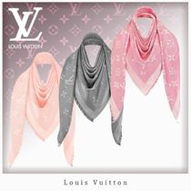 Louis Vuitton MONOGRAM Unisex Silk Fringes Lightweight Scarves & Shawls